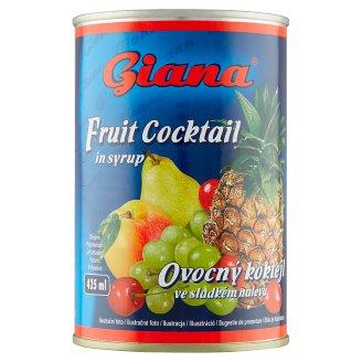 Giana Ovocný koktejl ve sladkém nálevu 410g