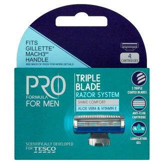 Tesco Pro Formula For Men Right Fit 3 náhradní hlavice 4 ks