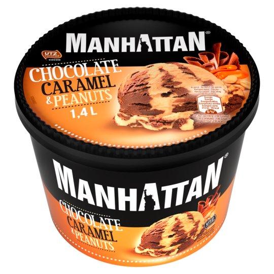 Manhattan Classic Mražený krém čokoládovo-karamelový s praženými kousky arašídů 1400ml