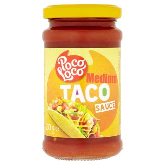 Poco Loco Taco medium rajčatová omáčka s cibulí, zeleným chilli a papričkami Jalapeño 230g