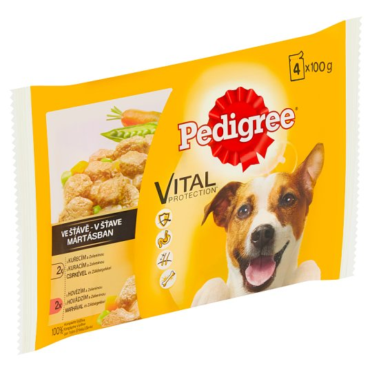 Pedigree Vital Protection 100% Complete Nutrition in Sauce 4 x 100g