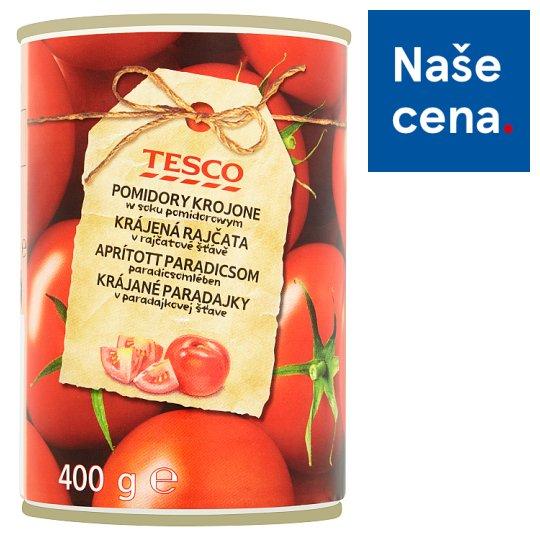 Tesco Krájená rajčata v rajčatové šťávě 400g