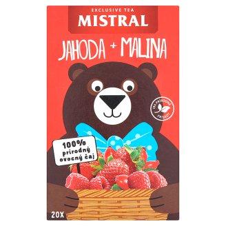 Mistral Jahoda, malina aromatizovaný ovocný čaj  20 x 2,2g