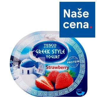 Tesco Greek Style Yogurt Strawberry 140g