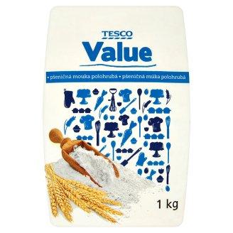 Tesco Value Flour Semi-Coarse 1kg