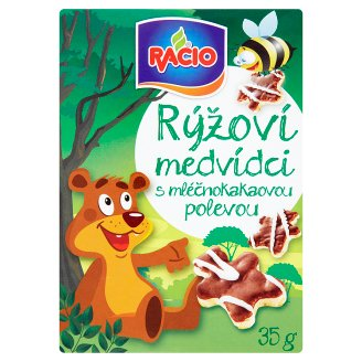 Racio Rice Bears with Milk Cocoa Topping 35g