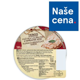 Tesco Pate with Chicken and Pork Kidneys 100g