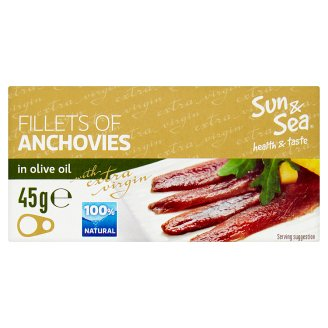 Sun & Sea Fillets of Anchovies in Olive Oil 45g
