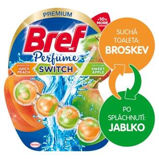 Bref Perfume Switch Juicy Peach / Sweet Apple pevný WC blok 50g
