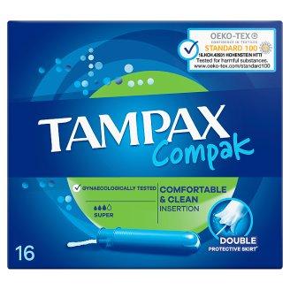Tampax Compak Super Tampony S Aplikátorem 16 ks