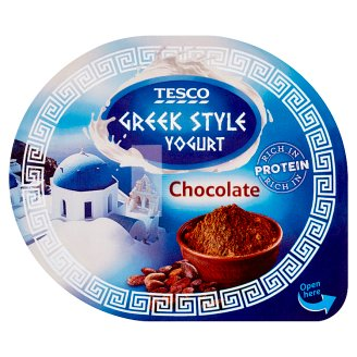 Tesco Greek Style Chocolate Yogurt 140g