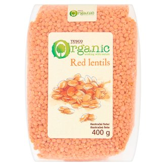 Tesco Organic Red Lentils 400g