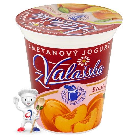 Mlékárna Valašské Meziříčí Creamy Peach Yogurt from Wallachia 150g