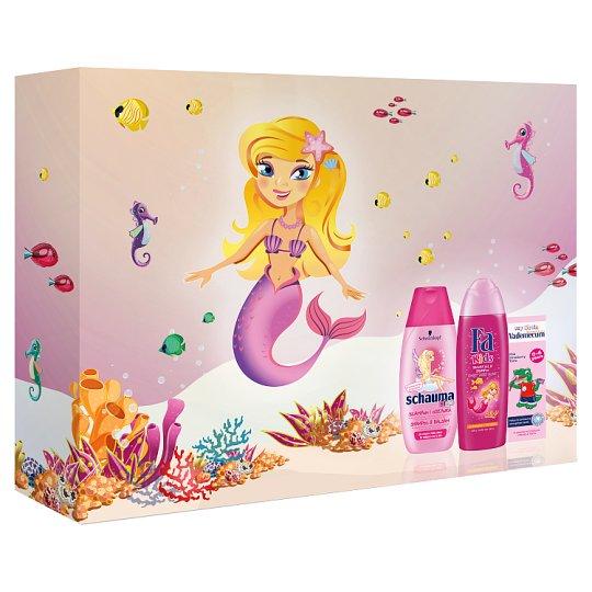 Multibrand Dětská vánoční sada Fa Kids girl SG+Schauma Kids girl SHP+Vademecum Junior Strawberry