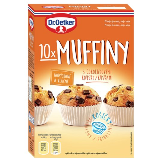 Dr. Oetker Muffins with Chocolate Chips 260g