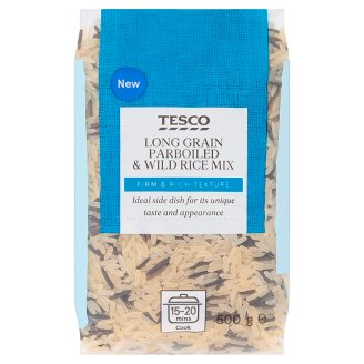 Tesco Long Grain Parboiled & Wild Rice Mix 500g
