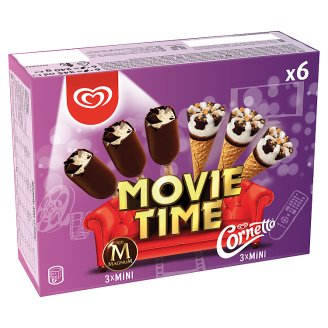 Algida Movie Time multipack zmrzlina 6 ks 345ml