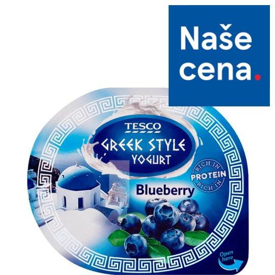 Tesco Greek Style Yogurt Blueberry 140g