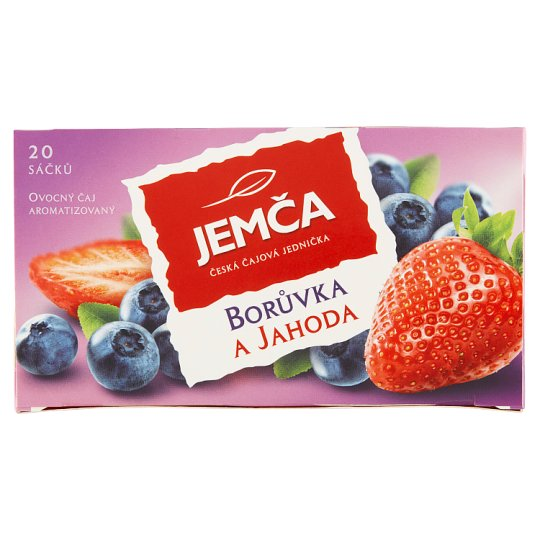 Jemča Blueberry and Strawberry Fruit Flavored Tea 20 x 2g