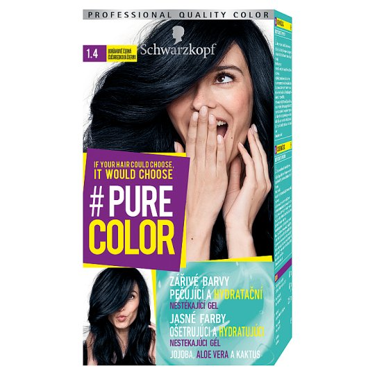 Schwarzkopf Pure Color Hair Color Blueberry Black 14 Tesco Groceries