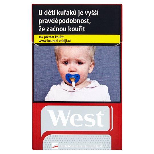 West Cigarety s carbon filtrem 20 ks