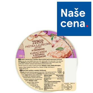 Tesco Pate with Chicken Liver and Garlic 100g