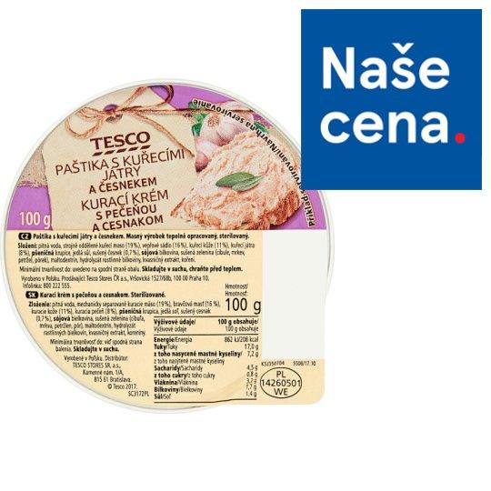 Tesco Paštika s kuřecími játry a česnekem 100g