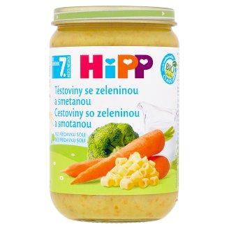 HiPP Bio těstoviny se zeleninou a smetanou 220g