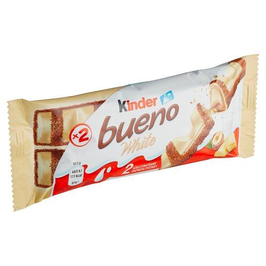 Kinder Bueno White oplatka s mléčnou a lískooříškovou náplní v polevě z bílé čokolády 2 x 19,5g
