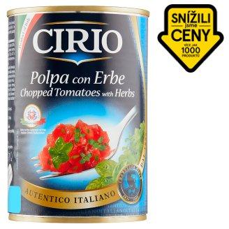 Cirio Loupaná krájená rajčata v rajčatové šťávě s bylinkami 400g