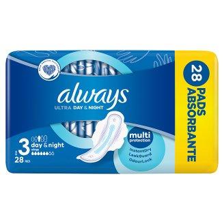 Always Ultra Night Vel.3 Hygienické Vložky SKřidélky 28ks