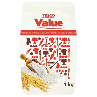 Tesco Value Wheat Coarse Flour 1kg