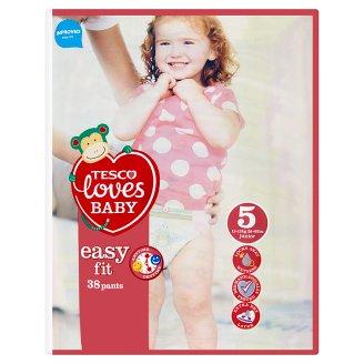 Tesco Loves Baby Easy Fit 5 Junior plenkové kalhotky 38 ks