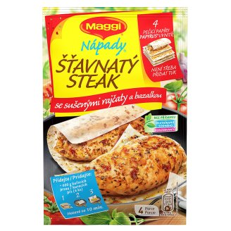 MAGGI Nápady Juicy Steak with Dried Tomatoes and Basil Bag 24.4g