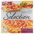 Don Peppe Selection Pizza slanina & smažená cibulka pečená na kameni 410g