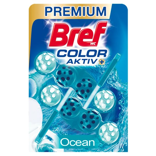 Bref Turquoise Aktiv Ocean tuhý WC blok 2 x 50g