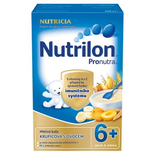 Nutrilon Pronutra dětská mléčná kaše krupicová s ovocem od uk. 6. měsíce 225g
