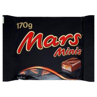 Mars Minis rodinné balení čokoládových tyčinek s nugátem a karamelem 170g