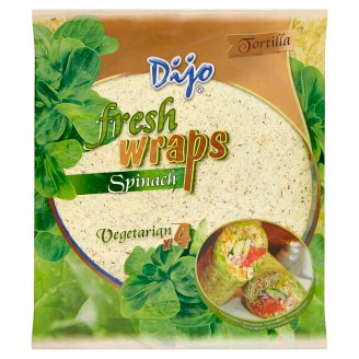 Dijo Tortilla pšeničné špenátové placky 4 ks 250g