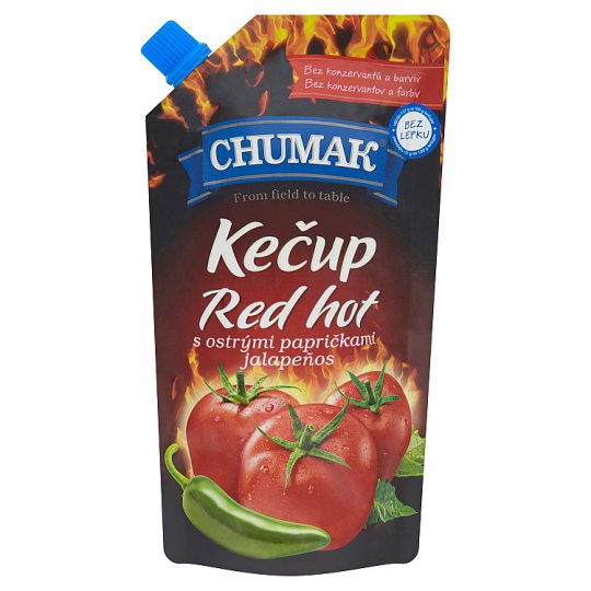 Chumak Ketchup Red Hot with Jalapeños Sharp Peppers 280g