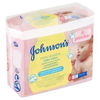 Johnson's Extra Sensitive dětské vlhčené ubrousky 224 ks