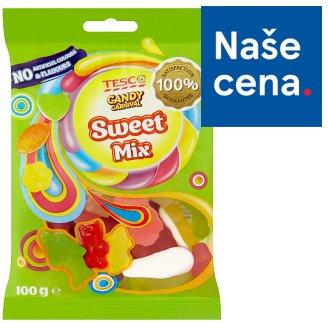 Tesco Candy Carnival Sweet mix želé s ovocnou příchutí s koncentrovanou hroznovou šťávou 100g