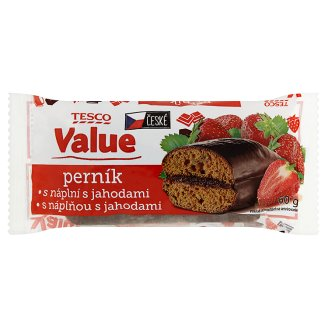 Tesco Value Perník s náplní s jahodami 60g