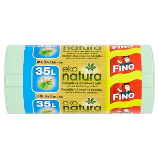 Fino Eko Natura Biodegradable Waste Sack 35L 30 pcs