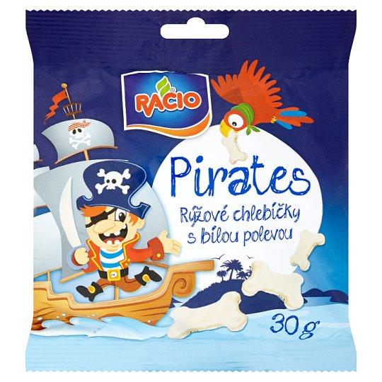 Racio Pirates Rice Cakes with White Yoghurt Icing 30g