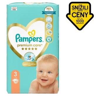 Pampers Premium Care Velikost 3 (Midi) 5 – 9 kg, 60 Kusů