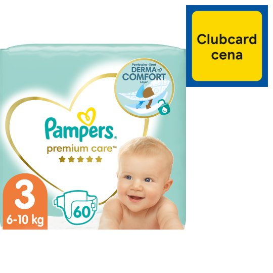 Pampers Premium Care Size 3 (Midi) 5-9kg, 60 nappies