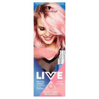 Schwarzkopf Live Pastel Spray barva na vlasy Candy Cotton 125ml