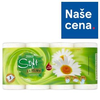 Tesco Soft Luxury Camomile toaletní papír 3 vrstvy 8 rolí