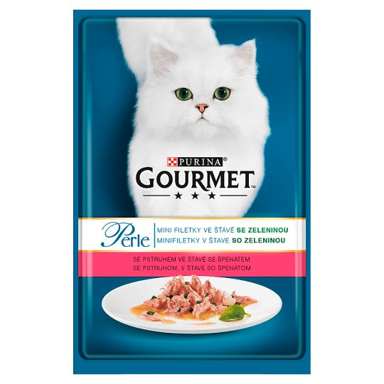 GOURMET Perle Mini Fillet With Trout In Juice with Spinach 85g